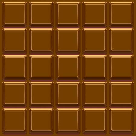 Barra de chocolate de vectores de fondo Ilustración de vector