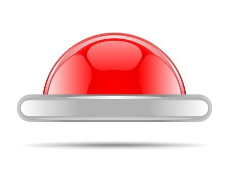 Red vector shiny button Stock Vector - 10568776