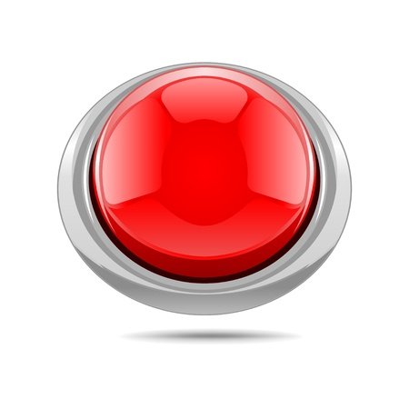 offline: Red vector shiny button  Illustration