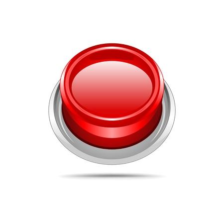 Red vector shiny button  Stock Vector - 10568777