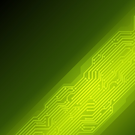 Abstract retro technology microchip vector background Vector