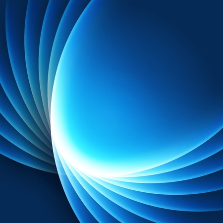 bends: Blue smooth light lines vector background