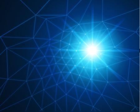 grid: Tecnologia astratta vector background Vettoriali