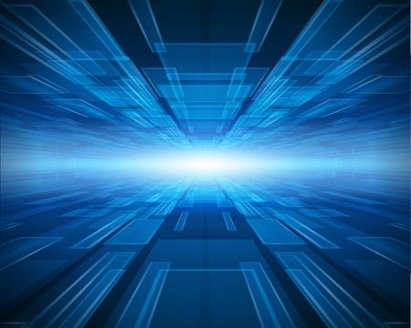 Virtuele tecnology vector achtergrond Stock Illustratie