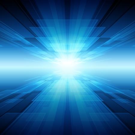 tunel: Fondo de vector de tecnología virtual