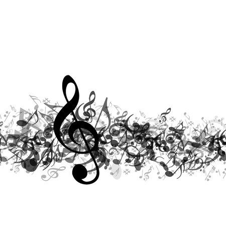 music notes vector: Music notes vector background