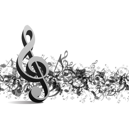 musical ornament: Music notes vector background