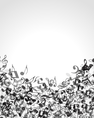 opera: Music notes vector background