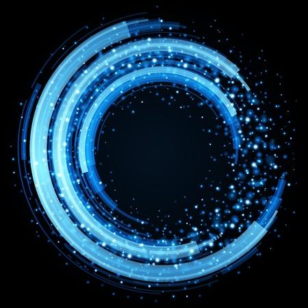 футуристический: Абстрактные ретро круги технологии вектор фон