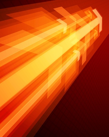 directiva: Flechas 3g gr�fico se mueven en la perspectiva de fondo vector