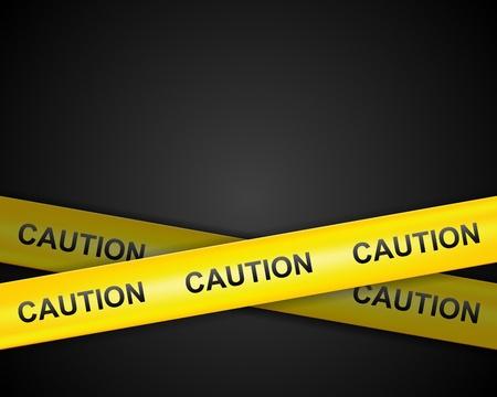 caution sign: Attenzione nastro linea di fondo vettore Vettoriali