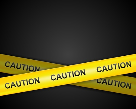 Caution line tape vector background Vector