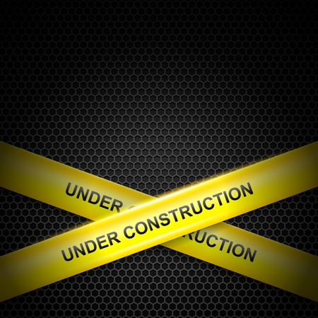 under construction: Under construction lines vector background