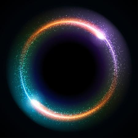 마법의: 추상 연소 기술 서클 벡터 배경 일러스트