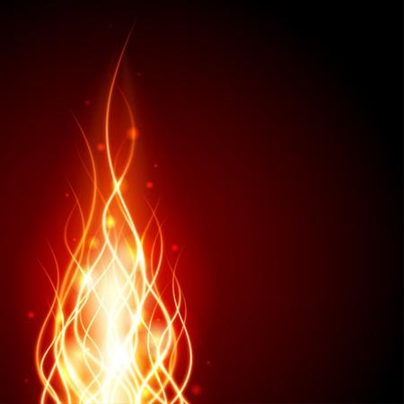 resplandor: Quema al fuego de llama de fondo vector