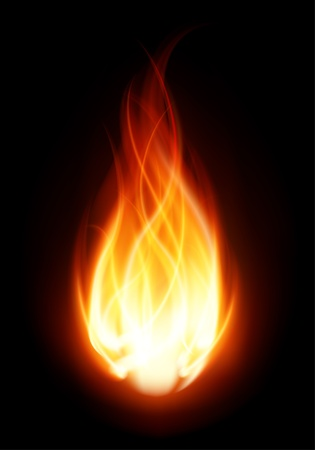 Fire ball flame burn vector background