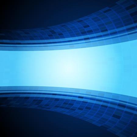 Virtual tecnology blue background Vector