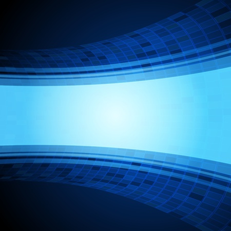tecnology: Virtual tecnology blue background