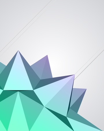 Abstract 3d origami polygonal sphere vector design element Vector
