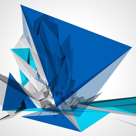 Abstract 3d geometrische lijnen moderne grunge vector achtergrond