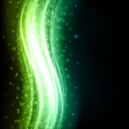 Abstract kleurrijk licht vloeiende lijnen achtergrond Vector Illustratie