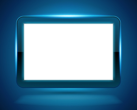Display Screen fly with light background Vector