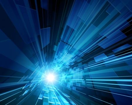 tecnologia: Astratto spazio virtuale con sfondo dello schermo vettore