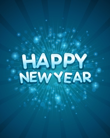 message vector: 3d happy new year message vector background Illustration