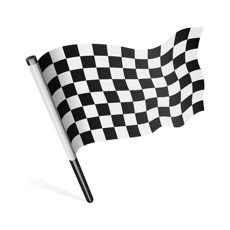 winning flag: Vector checkered flag