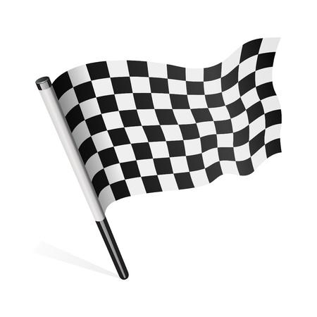 bandera carrera: Vector de bandera a cuadros
