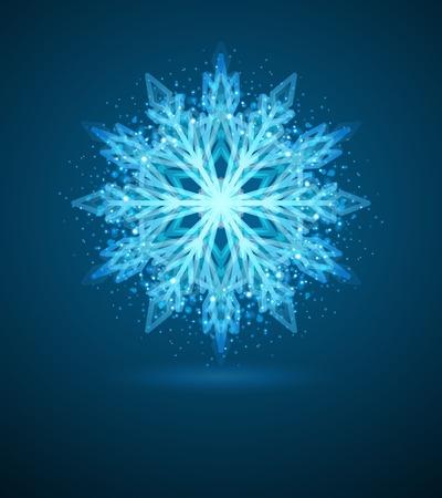 Snowflake background Stock Vector - 10671101