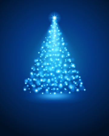 season greetings: Christmas tree from light