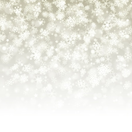 Christmas background light and snowflakes. Stock Vector - 10671155