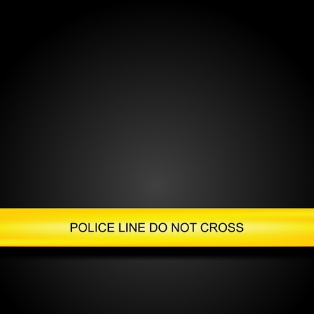 criminals: Police line tape.