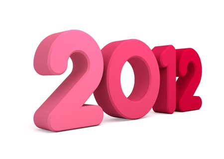 3d Happy new year 2012 message Stock Photo - 10964722