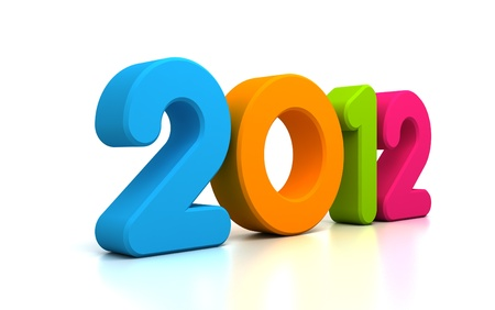 3d colorful Happy new year 2012 message Stock Photo - 10964726