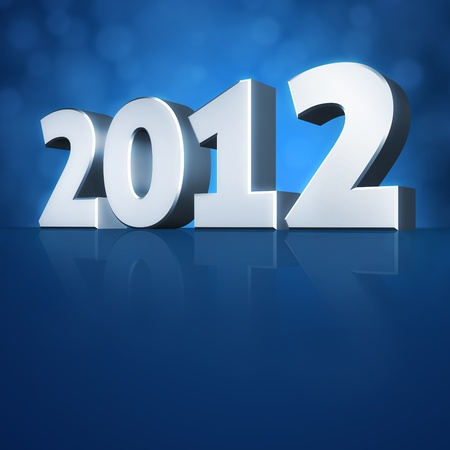 3d Happy New Year 2012 message background photo