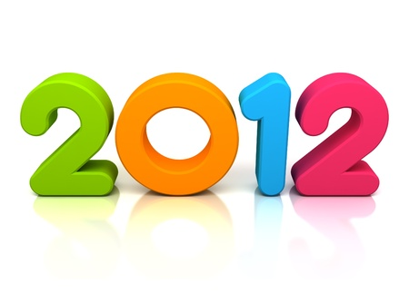 3d colorful Happy new year 2012 message Stock Photo - 10964727