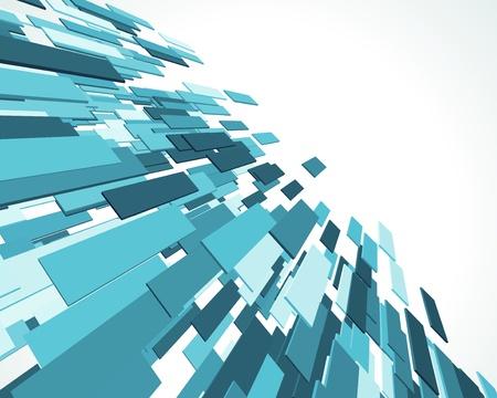 футуристический: Fly синий 3d линий фона