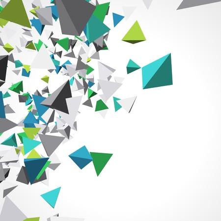 forme: Fly fond coloré en 3D des pyramides