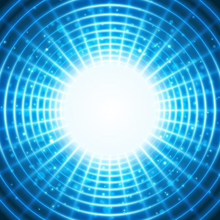 bright future: Virtual space with light wire lines background