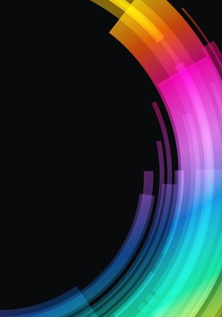 Abstract retro technology circles vector background Stock Vector - 10980247