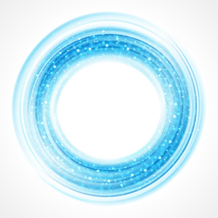 blue circles: Abstract smooth light circle background Illustration