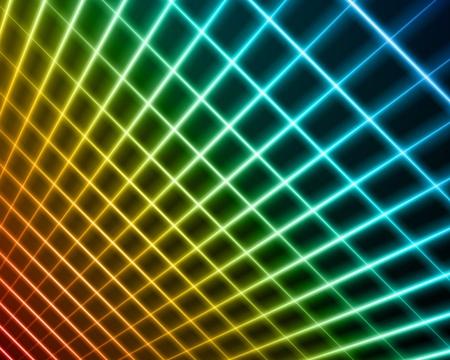virtual space: Lo spazio virtuale con sfondo chiaro le linee filo