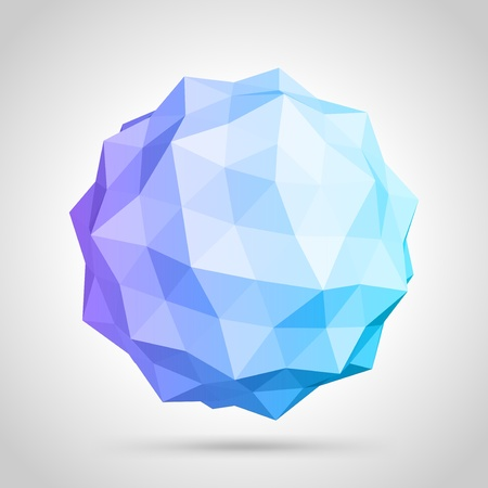 polygons: Abstract 3d origami sphere background