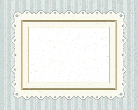 Vintage invitation greeting card with ornament and old textured pattern. Stock Vector - 11038198