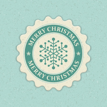 Christmas snowflake applique background Vector