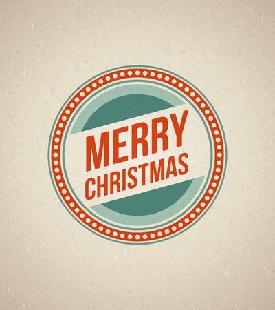 Christmas label illustration Stock Vector - 11324318