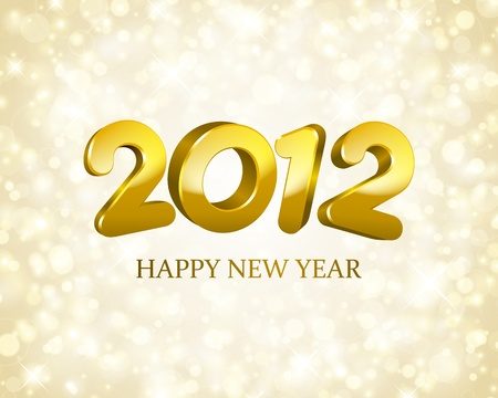 Happy new year 2012 3d message background Stock Vector - 11324308