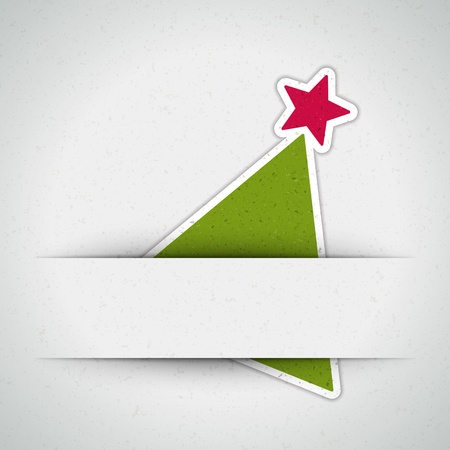 christmas banner: Christmas tree applique background
